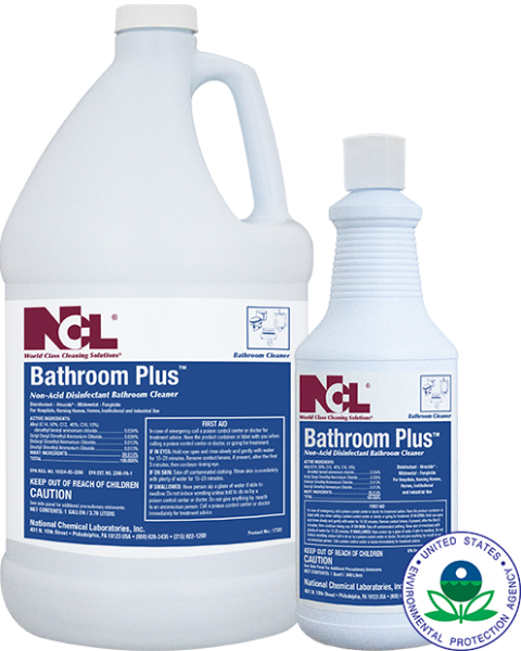 Bathroom Plus Non Acid Disinfectant Bathroom Cleaner 4 Gl Cs